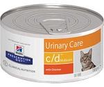 Hills (Хиллс) Prescription Diet C/D Multiсare Urinary Care Лечебные Консервы Для Кошек Для Поддержания Здоровья Мочевыводящих Путей Курица 156г