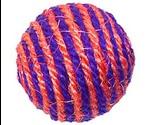 Игрушка Для Кошек Мячик с Мятой Сизаль 6см Тм-2006