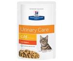 Hills (Хиллс) Prescription Diet C/D Multiсare Urinary Care Лечебный Влажный Корм Для Кошек Для Поддержания Здоровья Мочевыводящих Путей Курица 85г