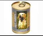 Консервы Dog Lunch (Дог Ланч) Для Собак Кусочки Говядины, Рубца и Печени в Желе 750г