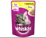 Влажный Корм Whiskas (Вискас) Для Кошек Рагу с Курицей 85г (1*24)