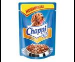 Влажный Корм Chappi (Чаппи) Для Собак Всех Пород Мясное Изобилие 100г Пауч (1*24)