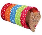 Тоннель Для Кошки Trixie (Трикси) Флис 25см*50см Горошек 4291