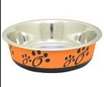 Миска Для Кошек и Собак Мелких Пород Металлическая Фьюжн Оранжевая XS 180мл Pf-1003а