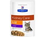 Hills (Хиллс) Prescription Diet K/D Kidney Care Лечебный Влажный Корм Для Кошек При Заболевании Почек Говядина 85г