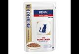 Лечебный Влажный Корм Royal Canin (Роял Канин) Renal Feline Для Кошек При Почечной Недостаточности Говядина Veterinary Diet Feline Renal Beef 85г