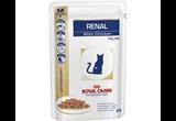 Лечебный Влажный Корм Royal Canin (Роял Канин) Veterinary Diet Feline Renal Chicken Для Кошек При Почечной Недостаточности с Курицей 85г