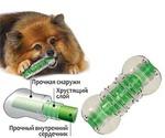 Игрушка Для Собак Мелких и Карликовых Пород Petstages (ПетСтейдж) Хрустящая Косточка Crunchcore Bone 263