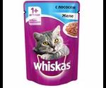 Влажный Корм Whiskas (Вискас) Для Кошек Лосось в Желе 85г (1*24)