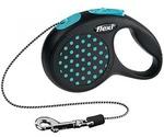 Рулетка Для Кошек и Собак Мелких Пород Flexi (Флекси) Design XS До 8кг Трос 3м Синий