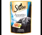 Влажный Корм Sheba (Шеба) Appetito Для Кошек Тунец с Лососем в Желе 85г (1*24)