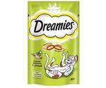Лакомство Для Кошек Dreamies (Дримс) Лакомые Подушечки Утка Cat Treats with Tasty Duck 60г (1*6)