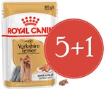 Влажный Корм Royal Canin (Роял Канин) Для Собак Породы Йоркширский Терьер Паштет Breed Health Nutrition Yorkshire Terrier Wet 85г 5 + 1 АКЦИЯ