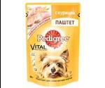 Влажный Корм Pedigree (Педигри) Для Собак Мелких Пород Паштет Из Курицы Vital Protection 80г (1*24)