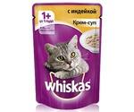 Влажный Корм Whiskas (Вискас) Для Кошек Крем-Суп Индейка 85г (1*24)