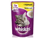 Влажный Корм Whiskas (Вискас) Для Кошек Крем-Суп Курица 85г (1*24)
