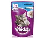 Влажный Корм Whiskas (Вискас) Для Кошек Крем-Суп Лосось 85г (1*24)