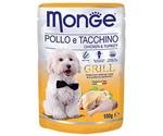 Влажный Корм Для Собак Monge (Монже) Курица и Индейка Grill Pouch 100г