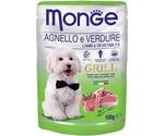 Влажный Корм Для Собак Monge (Монже) Ягненок и Овощи Grill Lamb & Vegetables 100г