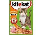 Влажный Корм Kitekat (Китекат) Для Кошек Индейка в Соусе 85г (1*24)