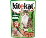 Влажный Корм Kitekat (Китикэт) Для Кошек Кролик в Соусе 85г (1*24)