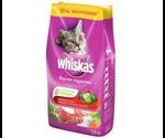 Сухой Корм Whiskas (Вискас) Для Кошек Вкусные Подушечки со Сметаной и Овощами с Говядиной, Ягнёнком и Кроликом 1,9кг (1*4)