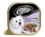 Консервы Cesar (Цезарь) Для Собак Фрикасе Ягненок с Овощами и Розмарином Лоток 100г (1*24)