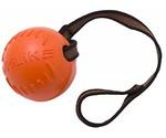 Игрушка Для Собак Крупных Пород Doglike (Доглайк) Мяч с Лентой Большой Оранжевый 65*10см Dm7346