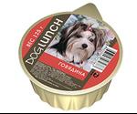 Консервы Dog Lunch (Дог Ланч) Для Собак Крем-Суфле с Говядиной 125г Ламистер