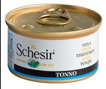 Консервы Schesir (Шезир) Nature for Cat Tuna in Jelly Для Кошек Тунец в Желе 85г (1*56)