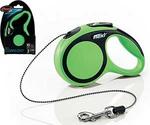Рулетка Для Кошек и Собак Мелких Пород Flexi (Флекси) Трос 3м До 8кг New Comfort XS Зеленый