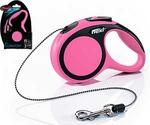 Рулетка Для Кошек и Собак Мелких Пород Flexi (Флекси) Трос 3м До 8кг New Comfort XS Розовый