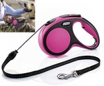 Рулетка Для Собак Средних Пород Flexi (Флекси) Трос 5м До 20кг New Comfort M Розовый