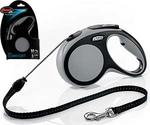 Рулетка Для Собак Средних Пород Flexi (Флекси) Трос 5м До 20кг New Comfort M Серый