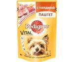 Влажный Корм Pedigree (Педигри) Для Собак Мелких Пород  Паштет с Говядиной Vital Protection 80г