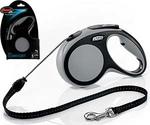 Рулетка Для Собак Мелких Пород Flexi (Флекси) Трос 5м До 12кг New Comfort S Серый