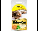 Консервы Gimpet (Джимпет) Shinycat Для Кошек Тунец с Креветками и Солодом Tuna, Shrimps & Malt Блистер (70г*2)