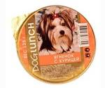 Консервы Dog Lunch (Дог Ланч) Для Собак Крем-Суфле Ягненок с Курицей 125г