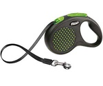 Рулетка Для Собак Средних Пород Flexi (Флекси) Ремень 5м До 25кг Design M Зеленый