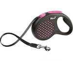 Рулетка Для Собак Средних Пород Flexi (Флекси) Ремень 5м До 25кг Design M Розовый