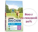 Сухой Корм Dog Chow (Дог Чау) Для Щенков Ягненок и Рис Puppy Lamb & Rice 800г Цена Снижена На 20% АКЦИЯ