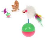 Игрушка Для Кошек Brava (Брава) Неваляшка Мышь На Шаре 25000190