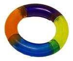 Игрушка Для Собак Мелких Пород Brava (Брава) Кольцо Разноцветное Жевательное 8см 2532979
