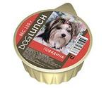 Консервы Для Собак Dog Lunch (Дог Ланч) Говядина Крем-Суфле 125г Ламистер