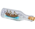 Грот Для Аквариума Marlin (Марлин) Корабль в Бутылке Стекло и Пластик 17*5,5см Евi-254