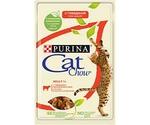 Влажный Корм Cat Chow (Кэт Чау) Для Кошек Говядина и Баклажан в Желе Adult 85г (1*24)