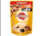 Влажный Корм Pedigree (Педигри) Для Собак Телятина и Печень в Желе 100г (1*24)