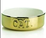 Миска Для Кошек IPTS Керамическая Золотая Cat 651462