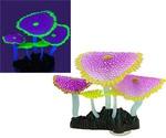 Кораллы Для Аквариума Gloxy Зонтичные Фиолетовые Флуорисцентные Светящиеся 13,5*3*16см Gl-268186