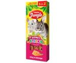 Палочки Для Кроликов Шиншилл и Морских Свинок Happy Jungle Крупных Грызунов Мед Овощи 90г 3шт J214